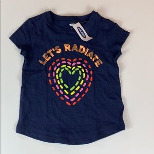 """Old Navy Girls Navy """"Let's Radiate"""" with Heart"""